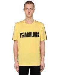 """Футболка Из Джерси """"ffabulous"""" Fendi для него, цвет: Multicolor"""