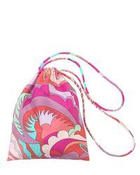 Купальный Костюм Из Лайкры С Принтом Emilio Pucci, цвет: Pink