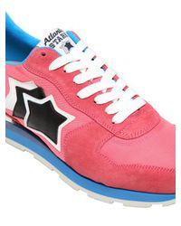 "Atlantic Stars Pink Sneakers Running ""antares"" In Camoscio E Nylon for men"