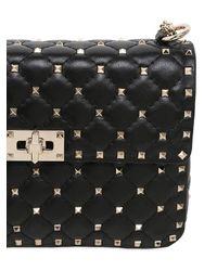 Valentino Black Medium Spike Bag