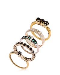 Iosselliani | Metallic Colors Of Burma Set Of 5 Rings | Lyst