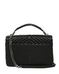Saint Laurent - Black Large College Monogram Leather Bag - Lyst
