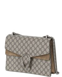 Gucci Gray Medium Dionysus Gg Supreme Shoulder Bag