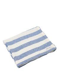 Льняное Полотенце В Полоску Frescobol Carioca для него, цвет: Blue