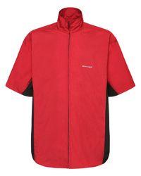 メンズ Balenciaga ナイロンジップシャツ Red