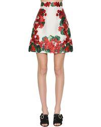 Dolce & Gabbana シルクミカド Aラインミニスカート Red