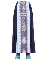 Adidas Originals Blue Color-Blocked Mesh Skirt