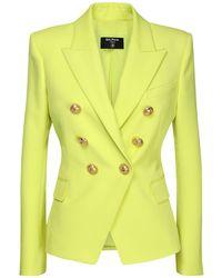 Balmain ウールブレザージャケット Yellow