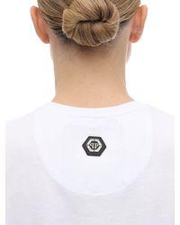 Philipp Plein White T-shirt Aus Baumwolljersey Mit Logodruck