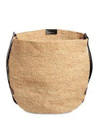 Isabel Marant Natural Baya Raffia & Leather Tote Bag