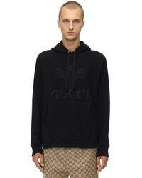 メンズ Gucci Gg 刺繍 コットンスウェットフーディ Black