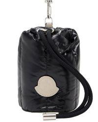 Стеганая Нейлоновая Сумка Moncler, цвет: Black