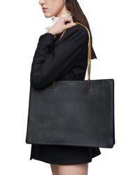 "Borsa Shopping ""chic"" In Pelle di Saint Laurent in Black"