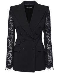 Dolce & Gabbana ストレッチウールブレンドジャケット Black