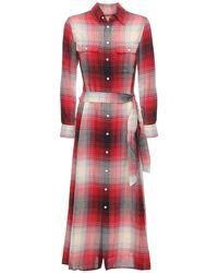 Платье В Клетку Из Хлопка Polo Ralph Lauren, цвет: Red