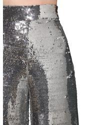 Pantaloni In Viscosa Con Paillettes di Filles A Papa in Metallic