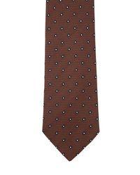 Corbata De Seda Con Flores 7.5cm Tagliatore de hombre de color Brown