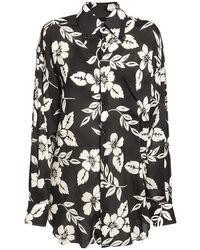 Tom Ford Floral ソフトシャツ Black