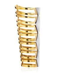 Monica Sordo Metallic Mali Cuff Bracelet