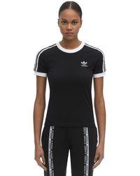 Adidas Originals コットンジャージーtシャツ Black