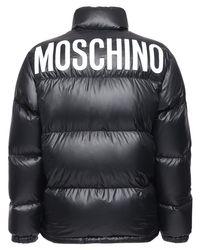 メンズ Moschino ナイロンダウンジャケット Black
