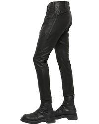 Julius   Black 16cm Patchwork Coated Canvas Pants for Men   Lyst