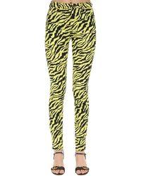 Gucci Multicolor Jeans Aus Baumwolldenim Mit Zebradruck
