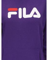 Хлопковый Свитшот С Капюшоном Fila, цвет: Purple