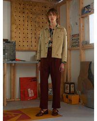 メンズ Bode Critter コットンキャンバスワークシャツ Natural