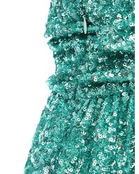 Amen スパンコールミニドレス Green