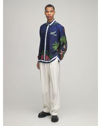 メンズ CASABLANCA Surf Club シルクツイルシャツ Blue