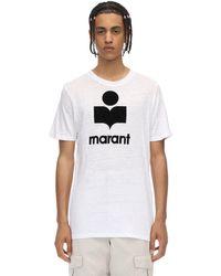 メンズ Isabel Marant Karman リネンtシャツ White