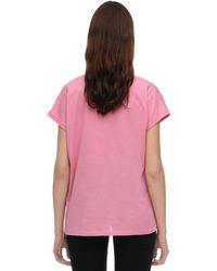 Balmain コットンジャージーtシャツ Pink