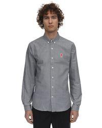Chemise En Coton Oxford Motif Vichy AMI pour homme en coloris Gray