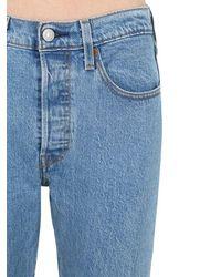 """Jean Taille Haute """"501"""" Coupe Slim Levi's en coloris Blue"""