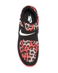 Nike Red Free Sock Fly Techno Jacquard Sneakers for men