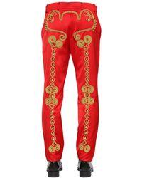 メンズ Moschino Circus 刺繍パンツ Red