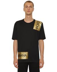 Logo tape T-Shirt Dolce & Gabbana pour homme en coloris Black