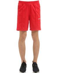 Adidas Originals Red Beckenbauer Piqué Shorts for men