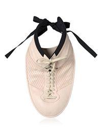 Maison Margiela White Plastron Sneaker Necklace