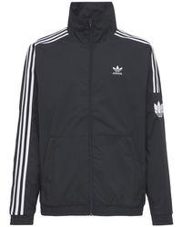 メンズ Adidas Originals Primeblue 3d Trefoil 3 Stripes トラックトップ Black