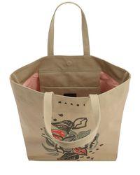 Marni コットンキャンバストートバッグ Multicolor