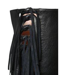 """Кожаные Сапоги """"sybille"""" С Бахромой 95см Laurence Dacade, цвет: Black"""