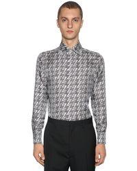 Рубашка Из Хлопка Поплин Fendi для него, цвет: Brown