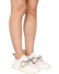 "Coliac White 30mm Hohe Sneakers Aus Leder Und Neopren ""doc"""