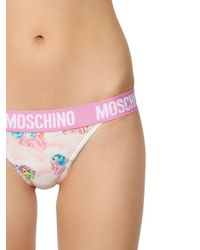 Moschino - White Little Pony Printed Bra & Briefs - Lyst