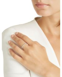Apm Monaco - Metallic Up And Down Silver Ring - Lyst