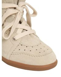 Isabel Marant Gray Étoile 'bobby' Concealed Wedge Sneakers