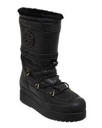 Tory Burch Black 60mm Cliff Nylon Snow Boots