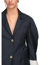 Lanvin モヘア&ウールジャケット Blue